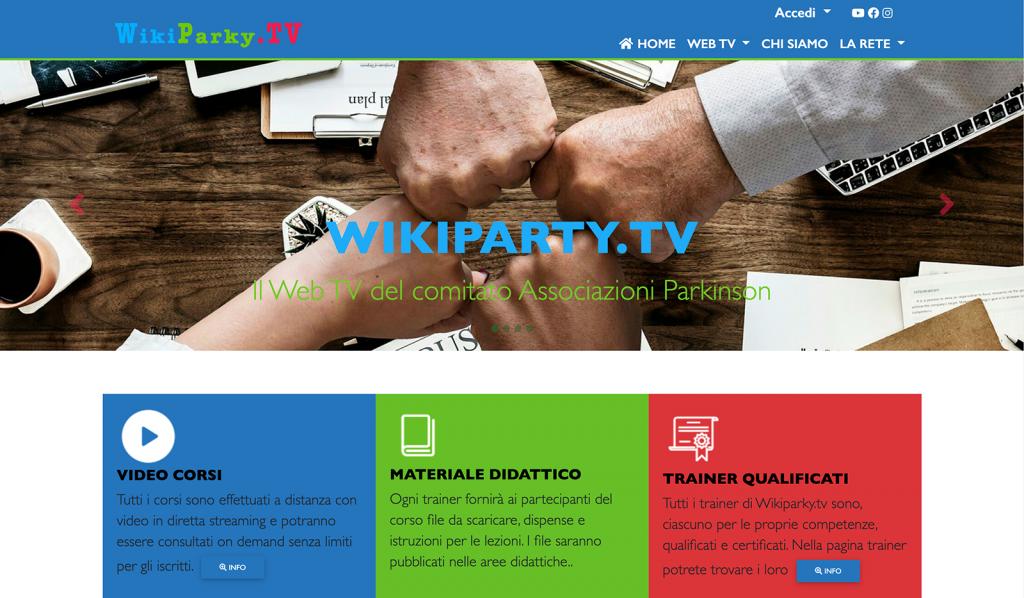 Homepage di WPTV 2.0